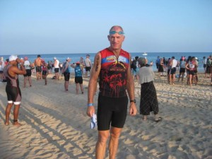 before the start of the Hawaii half Ironman on Hapuna beach, Big Island