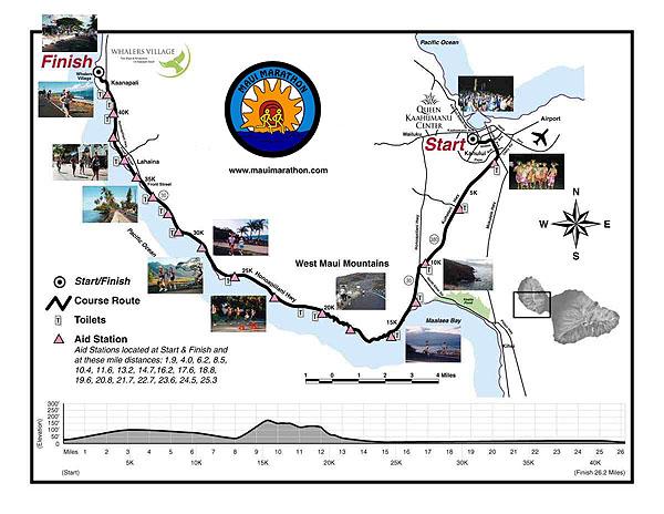 Maui marathon Map