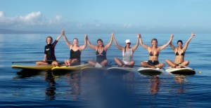 Women's FREE Stand Up Paddling Clinic on Maui with Suzie Cooney and Dolphins Too!
