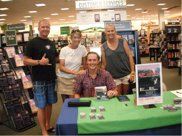 Good Turn Out for Book Signing Maui June 25th Surf Survival:The Surfer's Health Handbook
