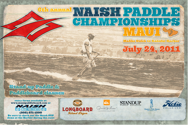 6th Annual Naish SUP Race Maui July 24th 2011 Maliko Gulch