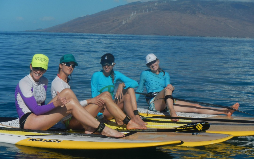 The Suzie Cooney Stand Up Paddle Fitness Experience at Lumeria Maui May 2012