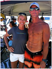 Scott Boyle and Suzie Cooney at the BOP at Dana Point, CA 2012