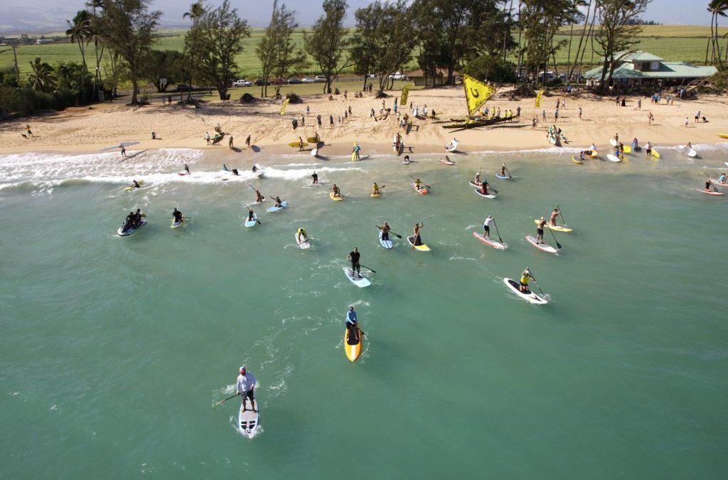 MAUI Free Three Mile SUP Downwind Practice Paddle for 5th Annual Olukai Ho'olaule'a