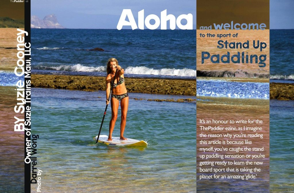 Suzie Cooney SUP Feature in ThePaddler Ezine Magazine