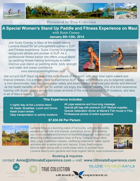A Special Women's Stand Up Paddling Event on Maui in 2014 Press Release