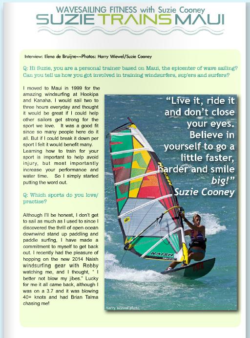 Suzie Cooney Windsurfing Fitness