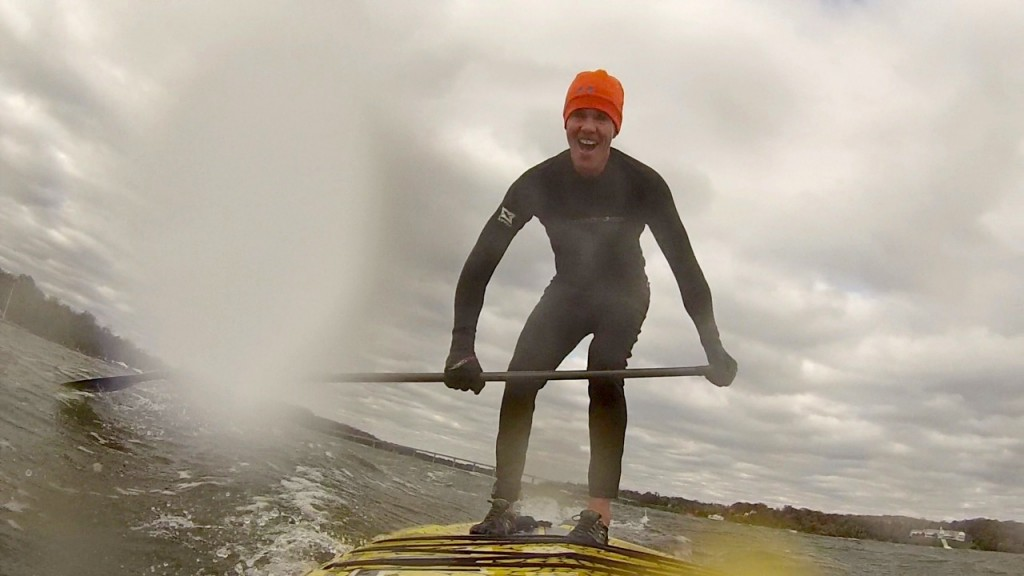 Why Is This Maryland Man Smiling on His SUP In Freezing Weather?