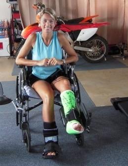 Suzie Cooney broken legs