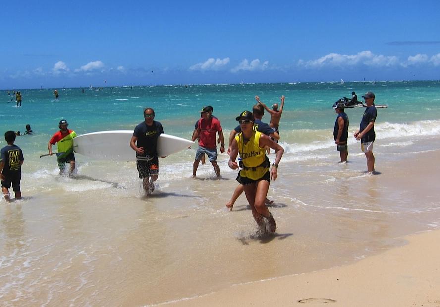 Suzie Cooney exiting 2015 Olukai Race Maui