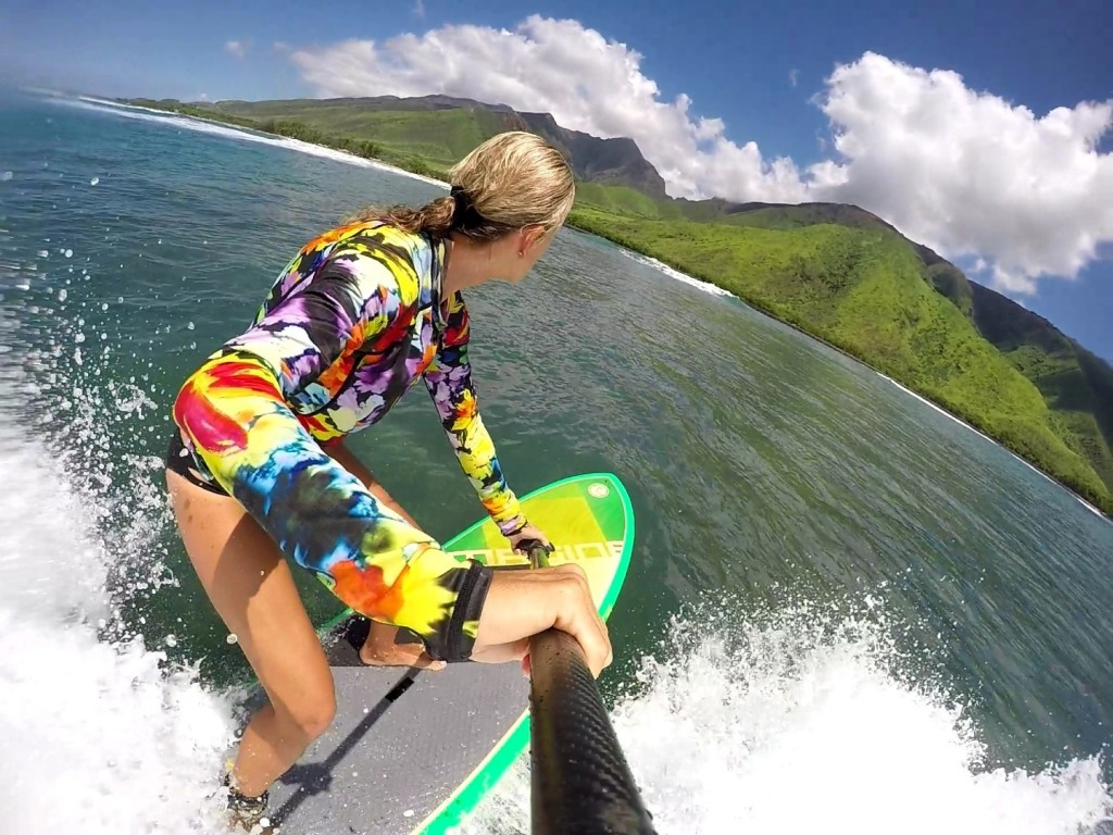 Suzie Cooney on Maui SUP for Imagine Paddle Surfing