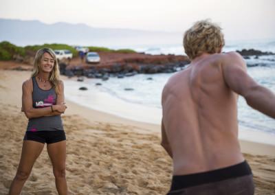 Suzie Cooney Connor Baxter Training Maui 2016