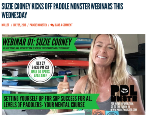 SUP Mental Strategy with Suzie Cooney Paddle Monster Distressed Mullet Webinar