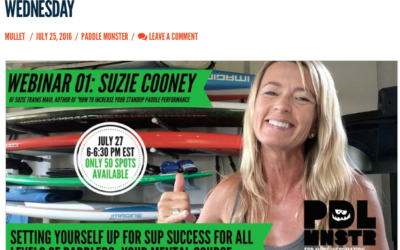 Watch Webinar Setting Up Your SUP Mental Strategy with Suzie Cooney for Paddle Monster