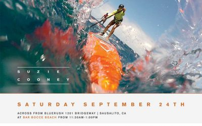 Bay Area Bluerush Boardsports and Imagine Surf Host Downwind SUP Course with Suzie Cooney