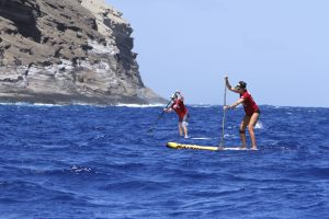 Approaching China Wall M20 Molokai to Maui Suzie Cooney