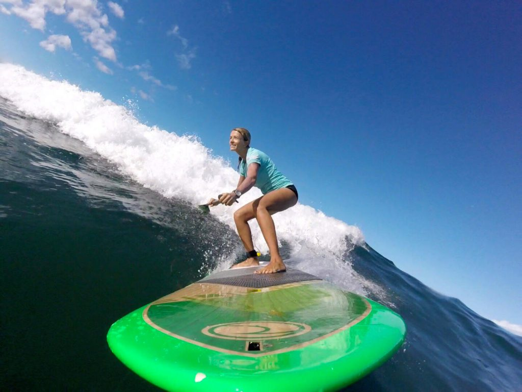 Advanced Paddle Surf and Downwind SUP Quick Training Tip Video with Suzie Cooney