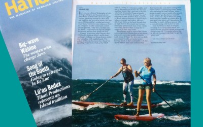 Hawaiian Airlines Hana Hou Magazine Featuring Suzie Cooney on Maui