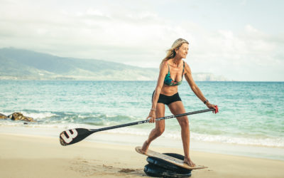 Double Maximum Burn Equals Double the Distance and Downwind Glides SUP and Foiling Leg Workout with Suzie Cooney