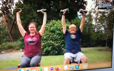 Father Daughter Virtually Training with Suzie Cooney from Maui to British Columbia