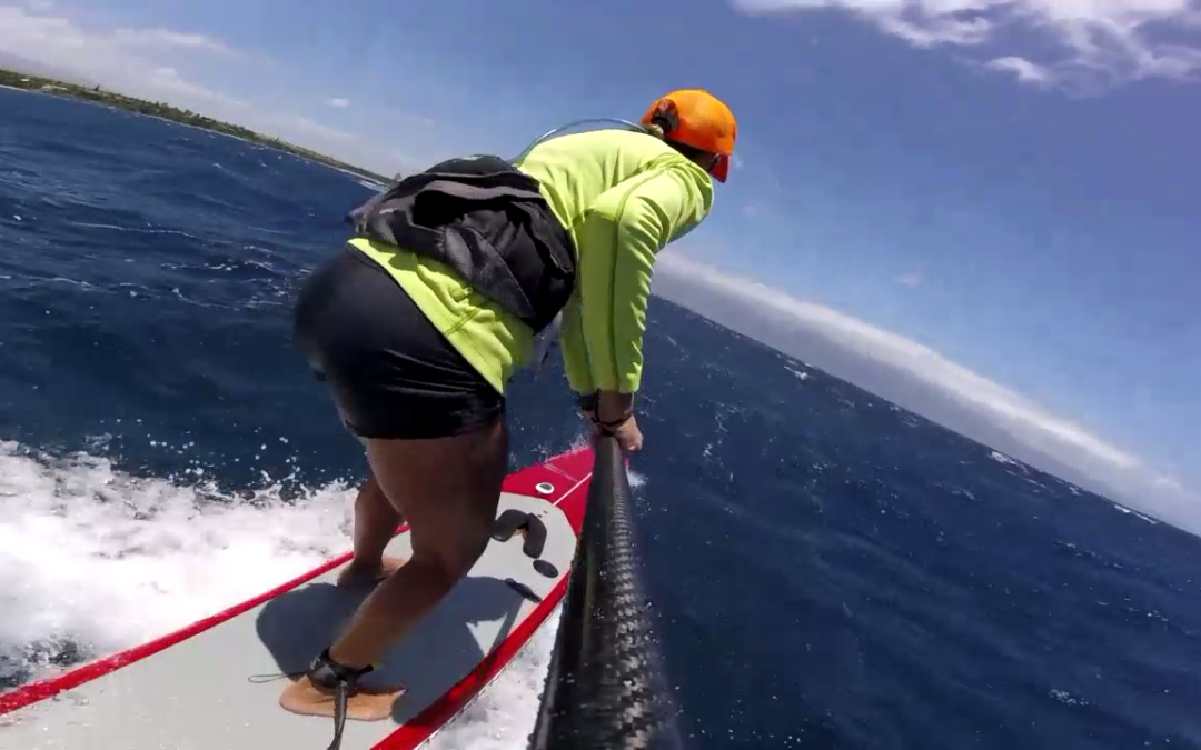 Maliko Run Downwind SUP Surf Action on Maui with Suzie Cooney